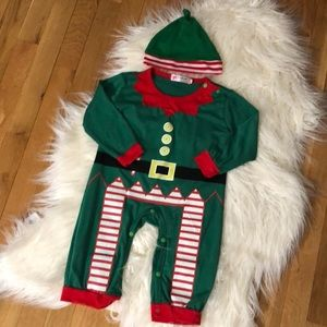 Other - Elf onesie with hat